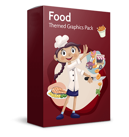 Food Themed Vector Image